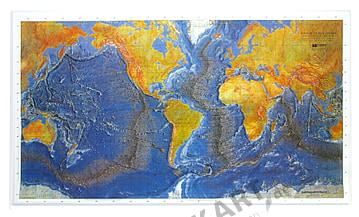 3D Relief Weltkarte Ocean Floor