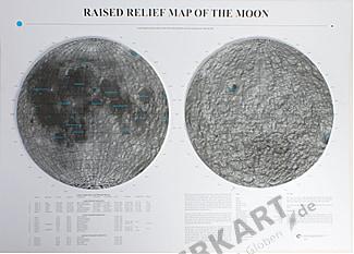 3D Relief Karte Mond