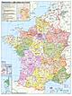 Frankreich Departement Karte
