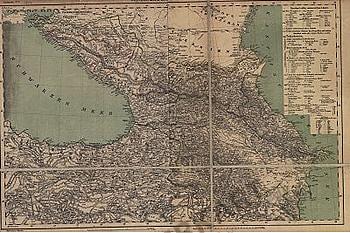 1859 - Generalkarte vom Kaukasus (Replica)