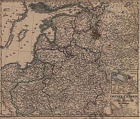 1855 - Ostsee- Länder und Inneres Russland bis Moskau