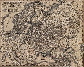 1855 - Europaeisches Russland auch Schweden und Norwegen