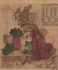 Plano Geografico de las Islas Britanicas