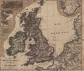 1856 - Die Britischen Inseln und die Nord-See (Replikat)