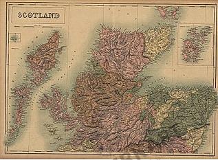 1865 - Scotland & Orkney Isles (Replikat)