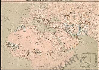 1859 - Europa, Nordafrika, Asien - Religionen und Völker 42 x 32cm