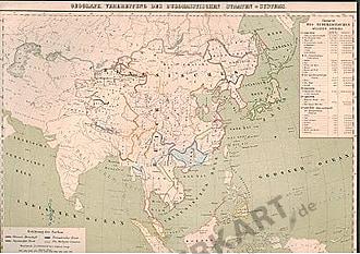 1859 - Asien - Religionen und Völker 42 x 32cm