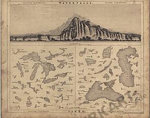 1839 - Wasserfälle und Seen (Replikat)