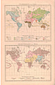 1885 - Peoples of the World and Religions of the World (Replica) 28 x 42cm