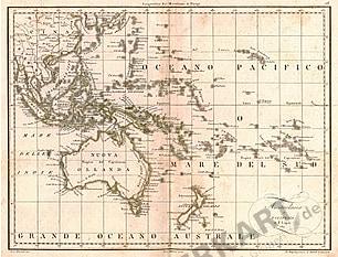 1811 - Australien & Ozeanien 35 x 25cm