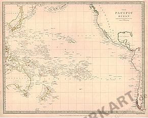 1840 - Ozeanien, Pazifischer Ozean (Replikat)