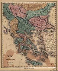 1840 - Map of Graecia Antiqua