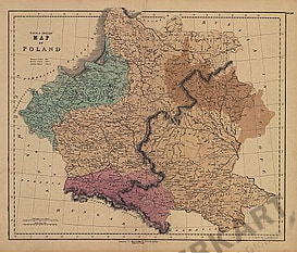 1823 - Map of Poland