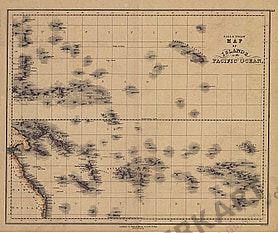 1840 - Map of Islands in the Pacific Ocean