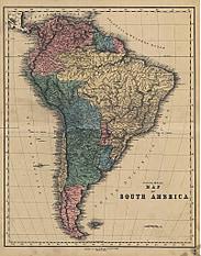 1840 - Map of South America (Replica)