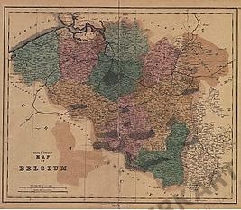 1840 - Map of Belgium
