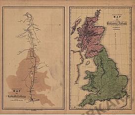 1840 - Map of Britania Antiqua