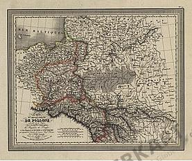 1824 - Carte de Pologne