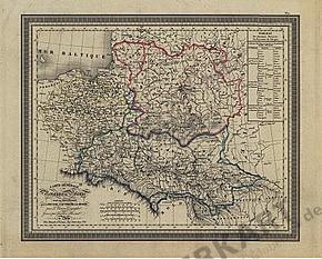 1823 - Carte Generale du Pologne