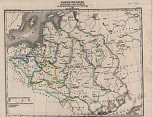 1850 - Karte von Polen zur Übersicht seiner Geschichte