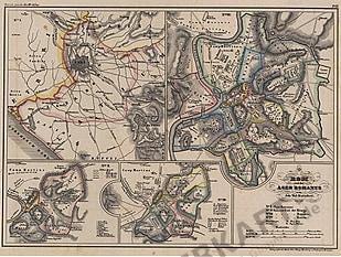 1850 - Rom und der Ager Romanus