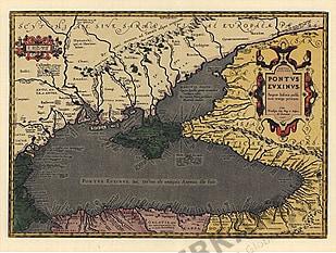 1590 - Die Karte des schwarzen Meeres im Altertum (Faksimile)