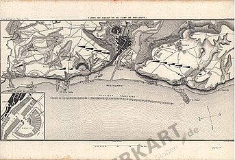 1845 - Carte du Bassin et du camp de Boulogne