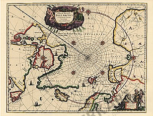 1979 - Karte des Nordpolargebietes aus Poli Arctici (Facsimile)