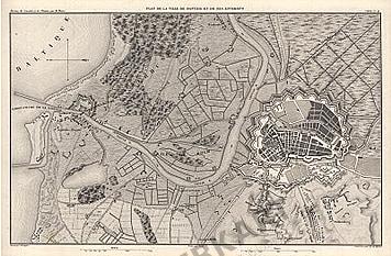Plan de la Ville de Danzig et de ses Environs