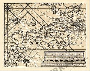1800 - Ein Teil des Finnischen Meerbusens (Faksimlie)