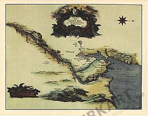 1693 - Eine Karte zur Entstehung des Trollhätta-Kanals