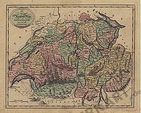 1801 - New and Accurate Map of Switzerland