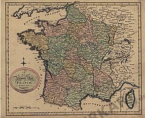 1801 - France Provinces Replica