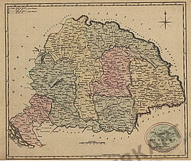 1801 - New and Accurate Map of Hungary