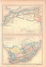 1854 - North and South Africa