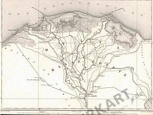 1845 - Ägypten, Nildelta