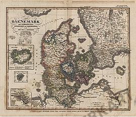 1833 - Daenmark mit Schleswig Holstein und Lauenburg (Replica)
