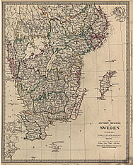 1833 - the southern Provinces of Sweden (Replica)