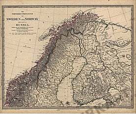 1834 - The Northern Provinces of Sweden and Norway with Part of