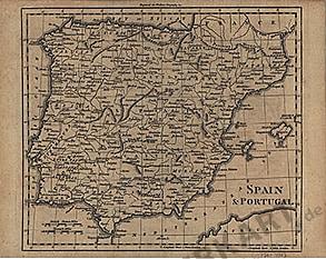 1795 - Spanien und Portugal 26 x 21cm