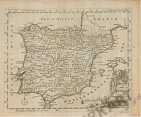 1757 - Spanien und Portugal 24 x 20cm