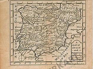 1744 - Spanien und Portugal 16 x 12cm