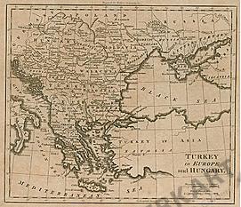 1795 - Türkei in Europa und Ungarn 26 x 21cm