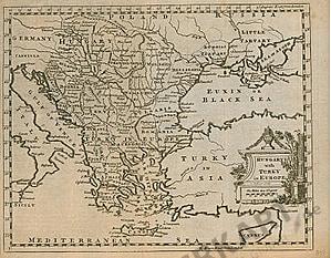 1757 - Ungarn, Südosteuropa, Türkei 25 x 20cm