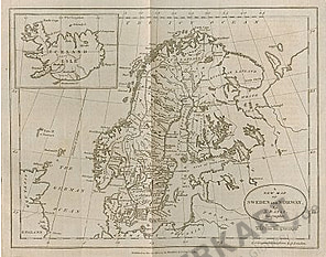 1783 - Schweden und Norwegen 32 x 26cm