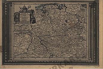 1729 - Deutschland, Westfalen (Replikat) 41 x 28cm