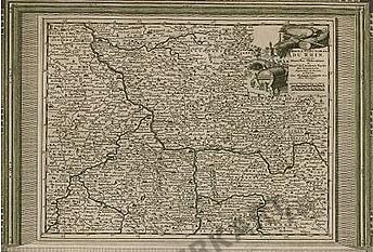 1729 - Deutschland, Rheinland, Hessen (Replikat) 41 x 28cm