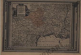 1729 - France, Languedoc 45 x 31cm
