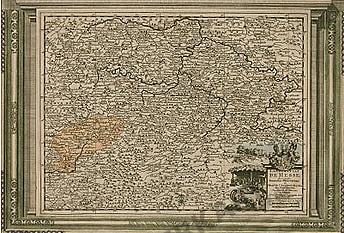 1729 - Deutschland, Hessen (Replikat) 41 x 27cm