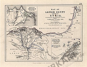1852 - Map of lower Egypt and Part of Syria